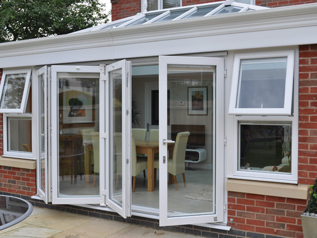 Bi fold doors upvc bi folding doors essex hertfordshire for Upvc french doors leeds