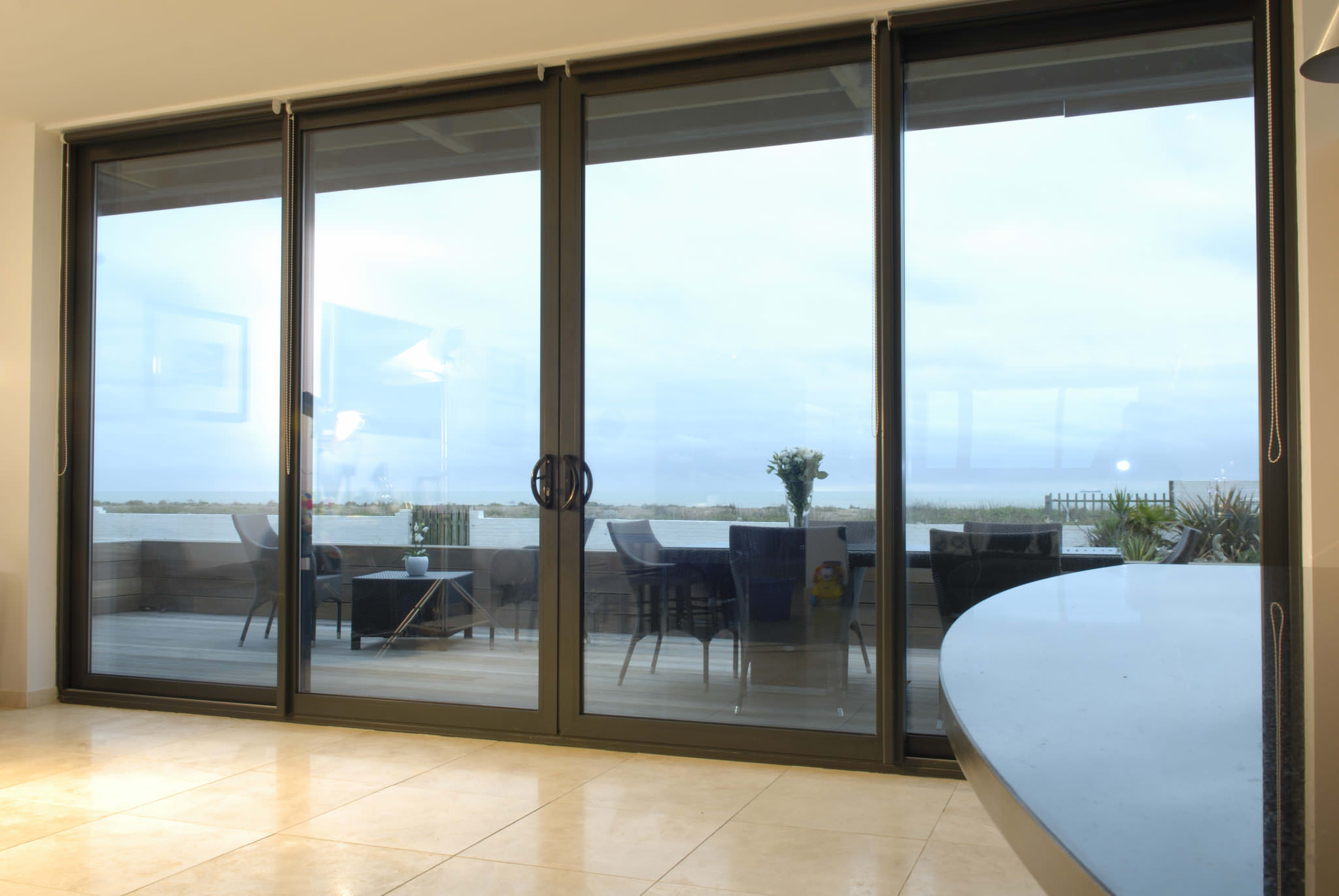 1371 #3D828E Aluminium Patio Doors Essex & Hertfordshire UPVC Doors pic Patio Doors With Side Windows 44912048